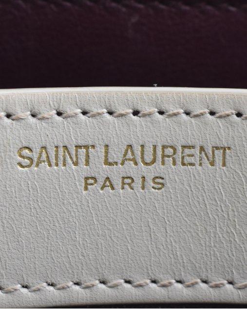 Bolsa Yves Saint Laurent Cassandra Branca