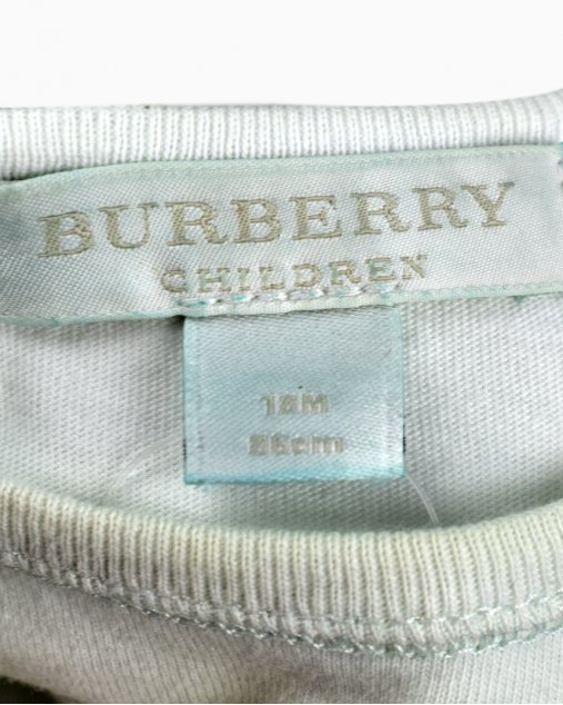 Camiseta Burberry Infantil Branca