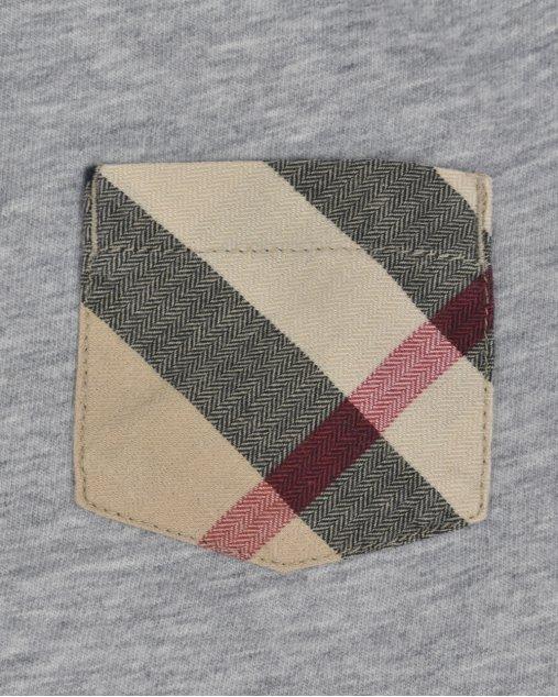 Camiseta Burberry Infantil Cinza