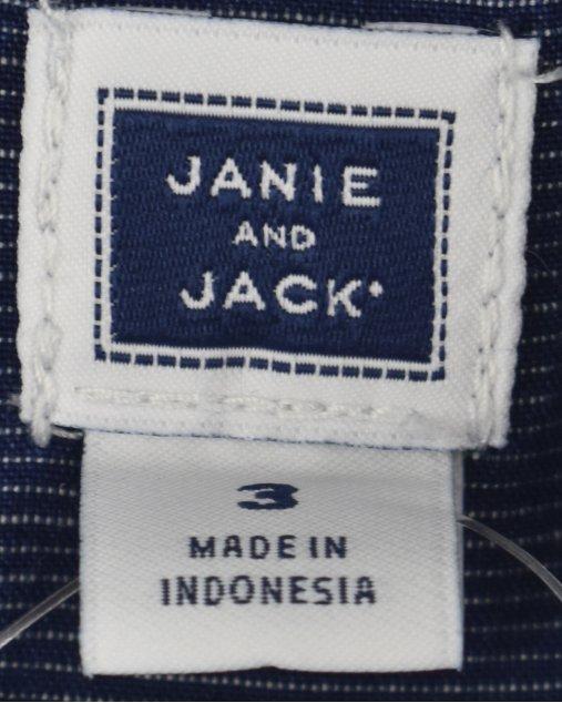 Camisa Janie And Jack Infantil Jeans