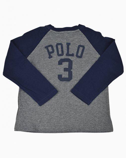 Blusa Polo Ralph Lauren Infantil Cinza e Azul