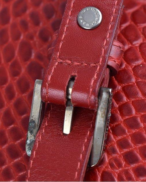 Bolsa De Couro Longchamp Vermelho