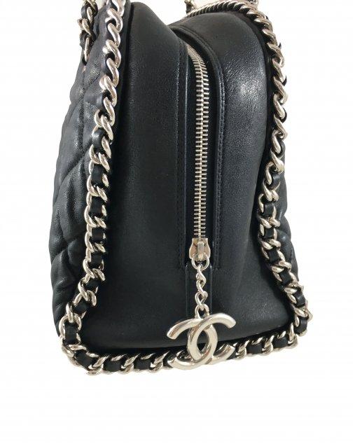 Bolsa Chanel Preta Chain Trim