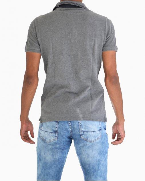 Camisa Polo Burberry Cinza Masculina
