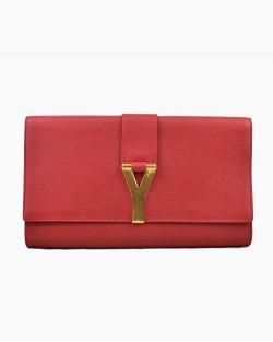 Clutch Yves Saint Laurent Vermelha