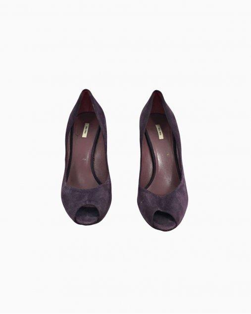 Sapato Miu Miu Roxo Salto
