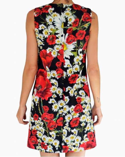 Vestido Dolce & Gabbana Regata Tecido Florido
