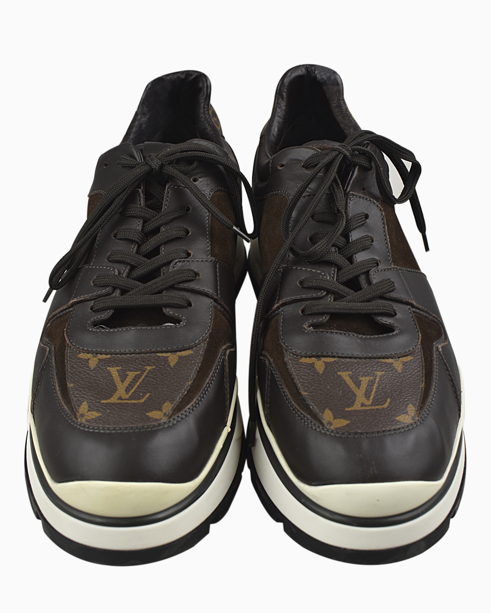 Tênis Louis Vuitton Run Way Monograma