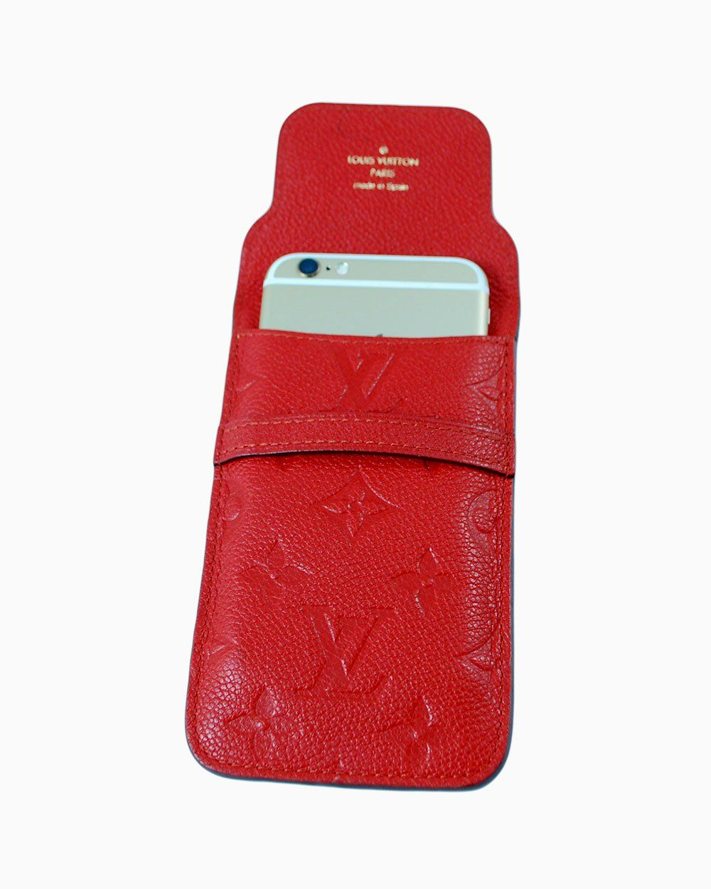 Capa Iphone Louis Vuitton Vermelha