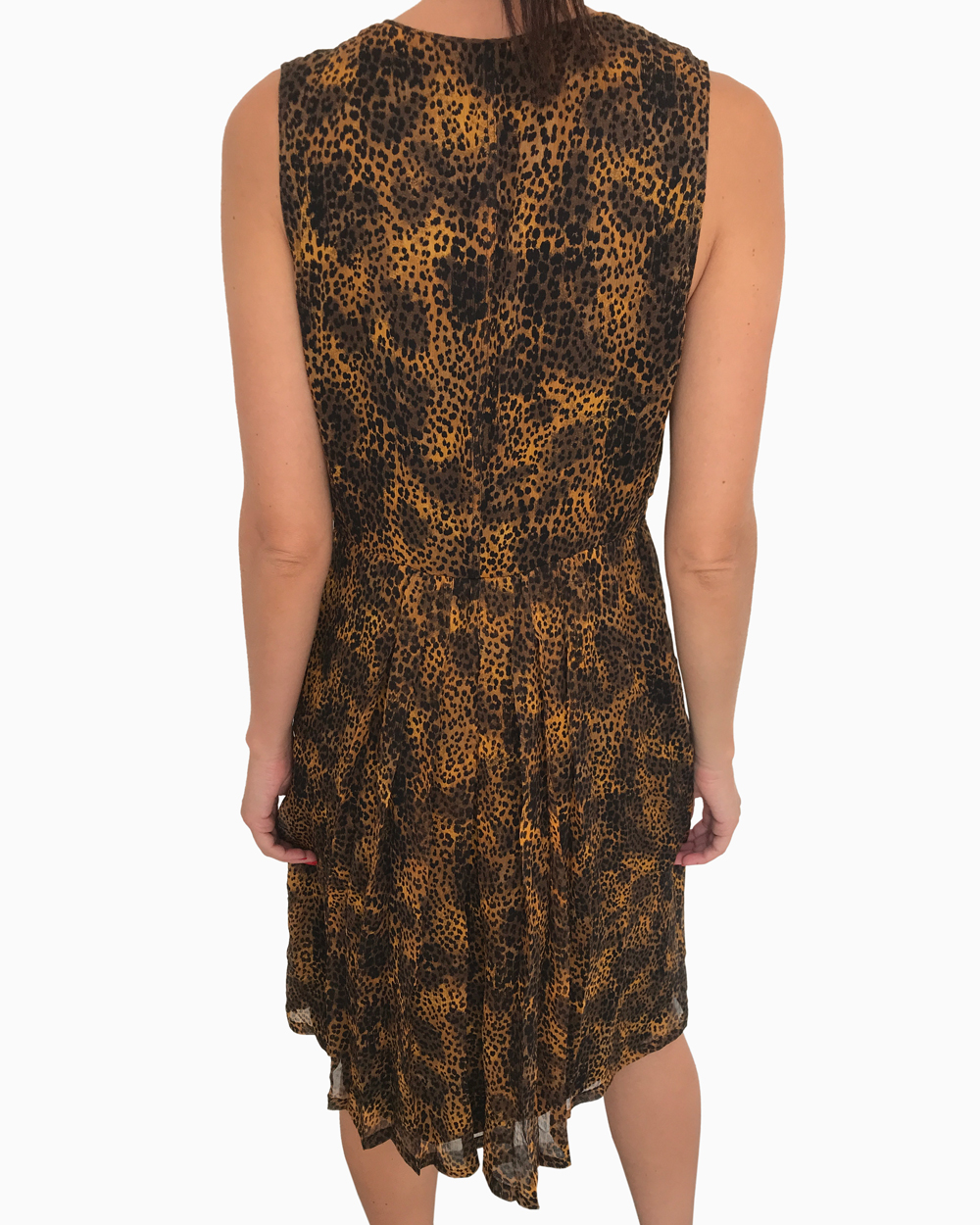 Vestido Burberry Brit Animal Print
